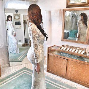 COMFY & SEXY Stretch Lace Sheer Wedding Dress
